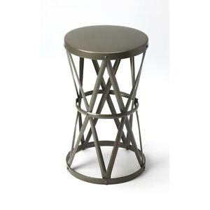 Butler Empire Round Iron Accent Table, Gray - 6124330