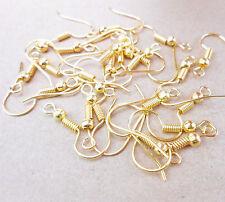 Wholesale 50PCS DIY Jewelry Findings 18K Gold plate  Hook Earrings Ear Wires
