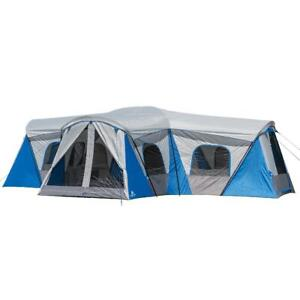 Camping Tent Family 16 Person 3 Room Cabin Tent with 3 Entrances Ozark Trail