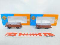 BY209-0,5# 2x Roco H0/DC 4313 Klappdeckelwagen/Güterwagen 340827 DB, OVP
