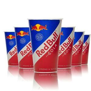 80x Red Bull Cola Energy Einwegbecher 0,25l Papier Becher Cups Gläser NEU OVP