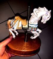 """WILLITTS INC- MELODIES CAROUSEL MUSIC BOX HORSE-PLAYS """"MEMORIES"""" #0499"""