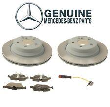 For Mercedes W204 GLK250 Rear Disc Brake Rotors and Pad & Sensors Genuine Kit