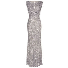 Long Maxi Sequin Women Bridesmaid Wedding Dress Evening Party Cocktail Prom Gown