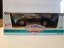 1969 Black Pontiac GTO American Muscle 1:18 Scale Die Cast Metal