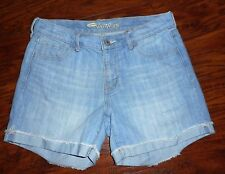 WOMENS OLD NAVY THE SWEETHEART STRETCH CUFFED DENIM JEANS SHORTS SIZE 4
