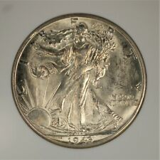 1943-D US Walking Liberty Half Dollar ANACS MS 63 Certified 90% Silver Coin A791