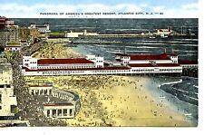 Aerial Panorama Greatest Resort-Beach-Atlantic City-New Jersey-Vintage Postcard