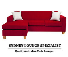 Brand New - AUS MADE Mossvale 3 seater reversible chaise (Scarlet) Lounge Couch