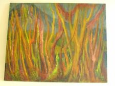 """Ethel L. Smul (1892-1978)  Oil Painting on Canvas titled """"Tropical Growth"""""""