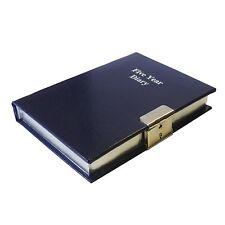 Blue 5 Five Year Undated Diary Lockable With Lock & Key Perpetual Organiser