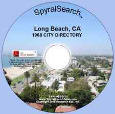 CA - Long Beach 1968 City Directory CD - Searchable
