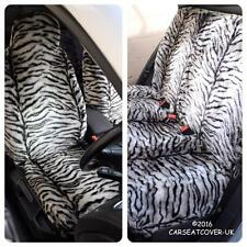 Renault Scenic  - GREY TIGER Faux Fur Furry Car Seat Covers - Full Set