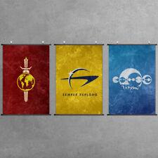 Factions Flag Scroll Poster Emblem Print Cloth Home Wall Art Gift For Trekkies