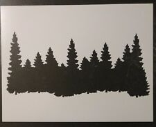 "Forest Line Pine Trees Smokey Mountains 11"" x 8.5"" Stencil FAST FREE SHIPPING"