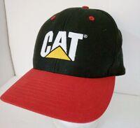 Vintage CAT Snapback Hat Cap Caterpillar Equipment Black Red Forklift Oregon 4c7d2c137919