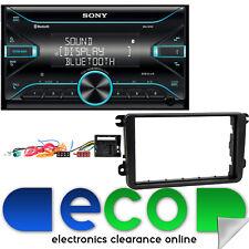VW Caddy Van SONY Double Din Bluetooth MP3 iPhone USB Car Stereo & Fascia Kit