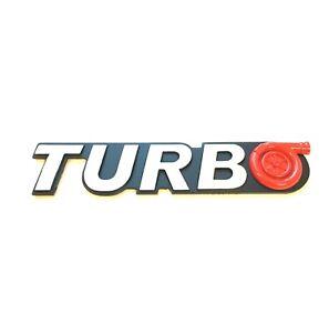 Turbo logo Emblem Metal Red White sticker badge decal side Fender 3D truck