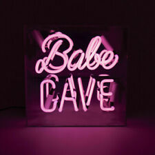 """Pink Babe Cave Store Eye-catching Real Glass Neon Light Neon Sign UK 10""""X10"""""""