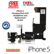 Replacement FOR iPhone 5 5G Charging Dock/Port Assembly + Headphone Jack - BLACK