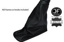 BLACK STITCHING LEATHER HANDBRAKE BOOT FITS VOLVO S40 V50 2004-2012