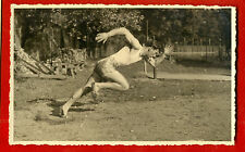 SPORT LATVIA MAN long jump VINTAGE PHOTO POSTCARD 201