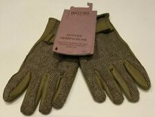 Briers Leather Herringbone Lined Gardening Gloves Size Large