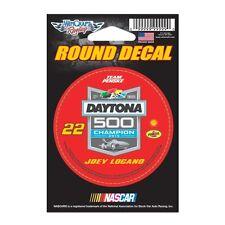 "Joey Logano #22 3"" Daytona 500 win Round Decal Pennzoil 2015 Free Shipping"