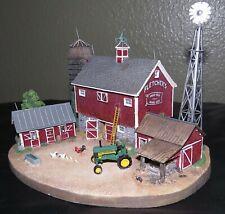 Danbury Mint The Old Red Barn John Deere Tractor Collectible Original Box & Coa