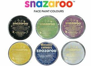 Metallic Snazaroo Face Paints Adults Kids Fancy Dress Make Up Paint 18ml