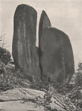 Buffalo Mountains. The Riven Rock. Victoria, Australia. 1908 old antique print