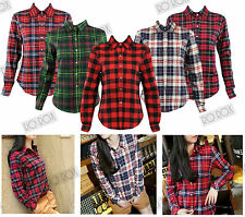 Cotton Blend Checked Casual Shirts for Women