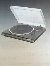 Technics SL-BD20 Turntable Original Owners Manual 4 Pages,  SLBD20