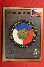 PANINI ITALIA 90 FIFA WORLD CUP # 76 BADGE CESKOSLOVENSKO WITH ORIGINAL BACK!