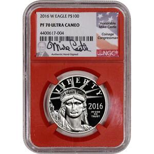 2016-W American Platinum Eagle Proof (1 oz) $100 - NGC PF70 UCAM Red Core Castle