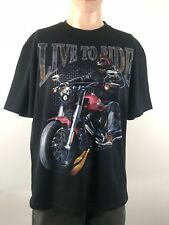 Live To Ride Mens Tee Shirt Size X Large Black