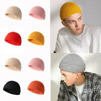 Winter Hat Plain Ski Skull Beanie Men/Hats Slouchy Knit Warm Cap Cuff Hats Women