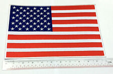 Large US Flag Patch XXL American 11x8 Inch USA Army Military Embroidered Iron On