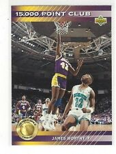 1992-93 UPPER DECK BASKETBALL 15000 POINT CLUB JAMES WORTHY #PC8 - LA LAKERS