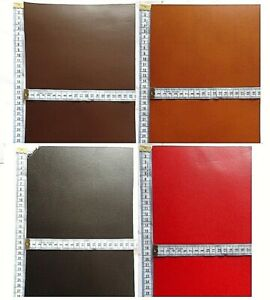 SEMI VEG TAN BUTT SPLIT LEATHER OFFCUTS 2.8MM THICK BROWN -  BLACK - WHITE - RED