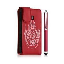 Shell cover case for lg optimus gt540 red color skull design + style
