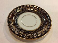 "ESCHENBACH BAVARIA GERMANY 4.5"" SAUCER W/ WHITE CENTER AND BORDER OF BLACK AND G"