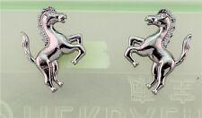 New Free Fashion Jewelry Shiny Gun Black Color Horse Stud Earrings Gift