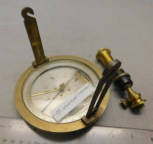 Surveying Compass w/ Knuckle Joint Vintage Antique French Surveying Instrument