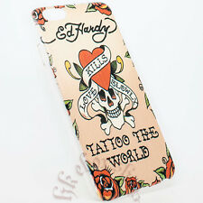 Ed Hardy Love Kills Slowly Skeleton Tattoo the World Case for Apple iPhone 6+LCD