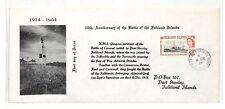 AT286 1964 FALKLAND ISLANDS FDC 50th Anniversary Naval Battle *HMS Glasgow* PTS