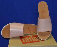 Fitflop Women's Sola Slides Leather Dusky Pink US 7 8 9 10 EU 38 39 41 42 New