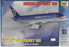 Zveda Russian Sukhoi Superjet 100 Civil Airliner in 1/144 7009 ST