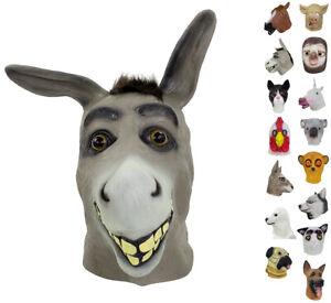 StylesILove Unisex Adult Halloween Fun Animals Head Full Face Latex Mask