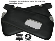 BLACK STICH 2X SUN VISORS LEATHER COVERS FITS HONDA CIVIC EK3 EK4 EK9 EJ9 96-00